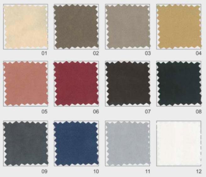 divan colours